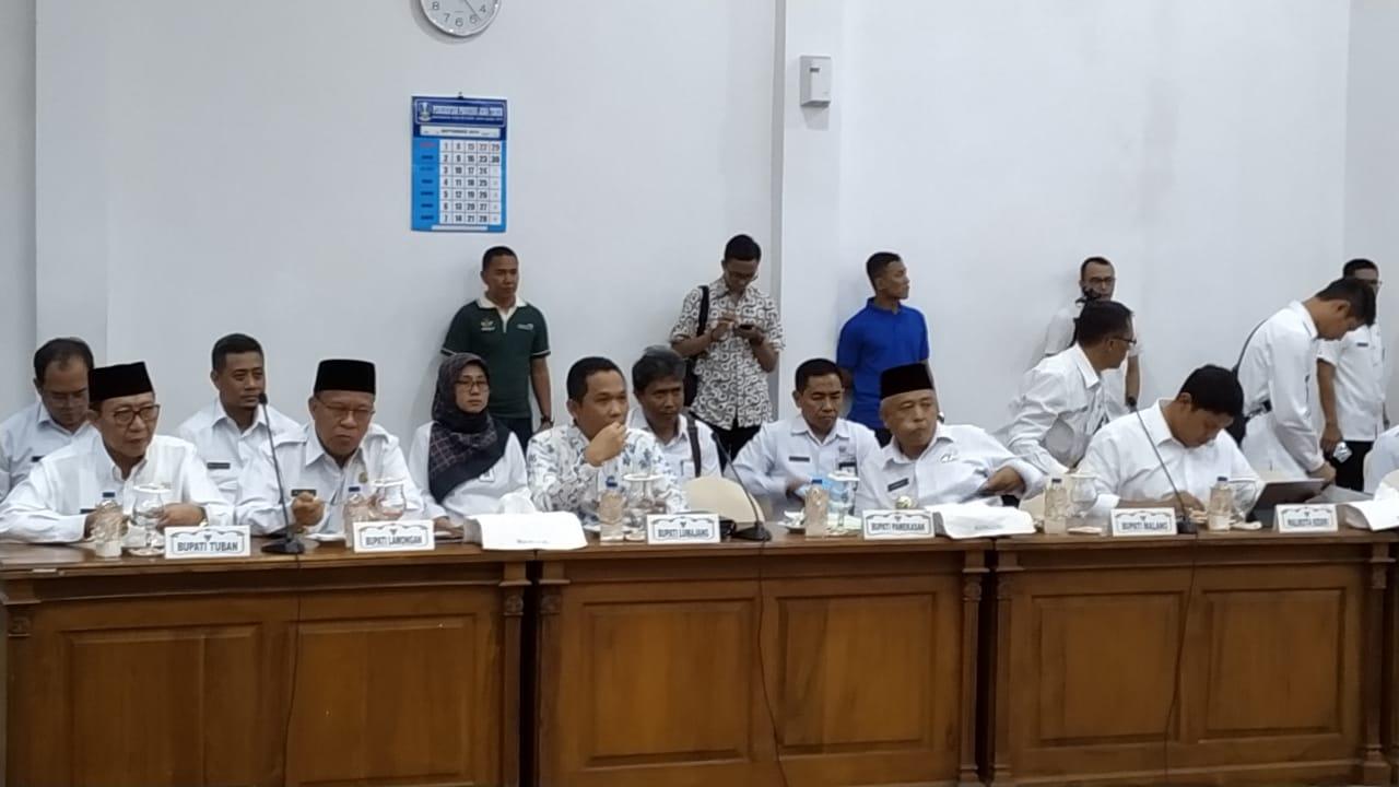 Rapat koordinasi Prioritas Percepatan Pembangunan Jatim.