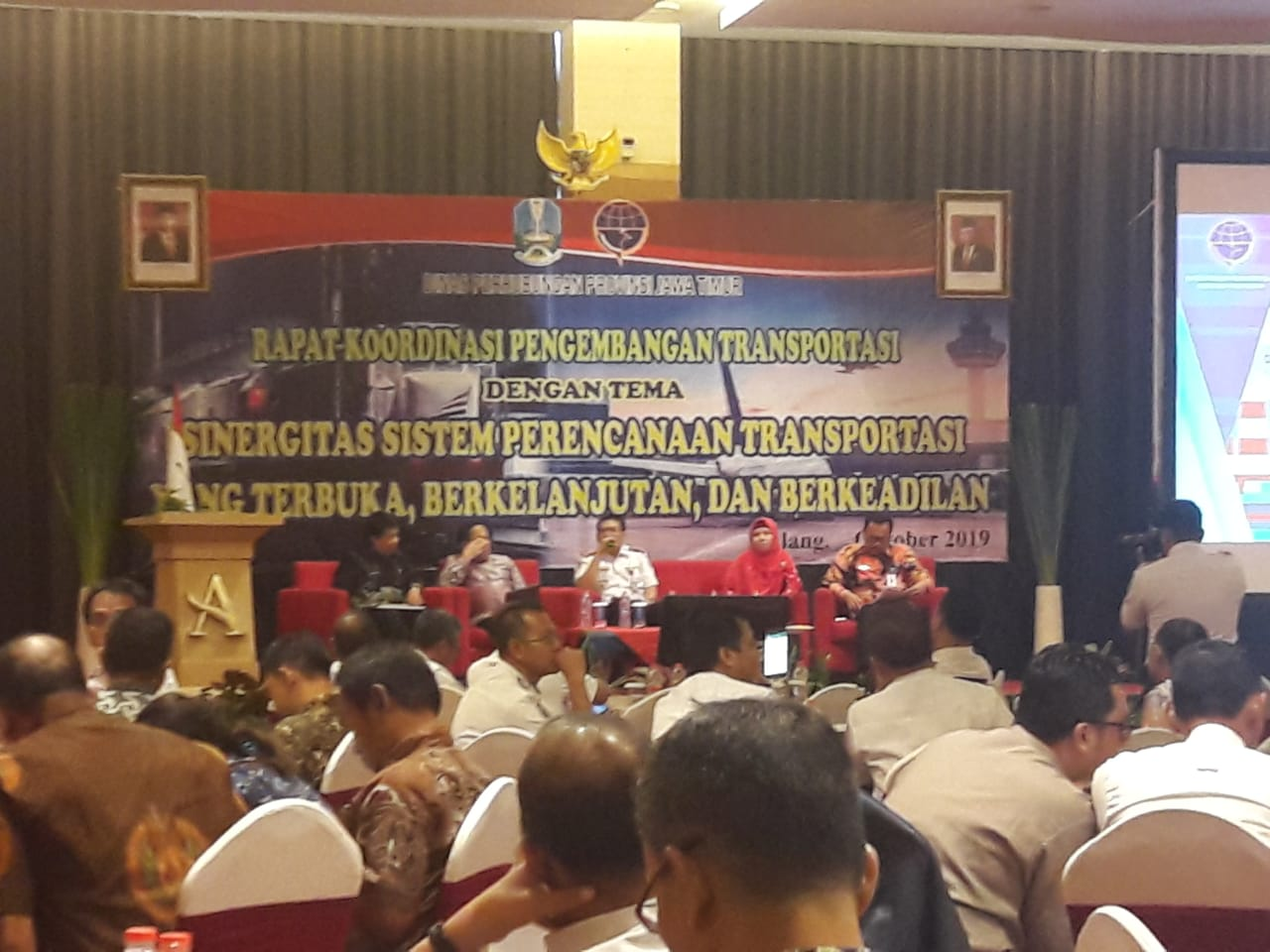 Rapat Koordinasi Pengembangan Transportasi dg tema Sinergitas Sistem Perencanaan Transportasi yg Ter
